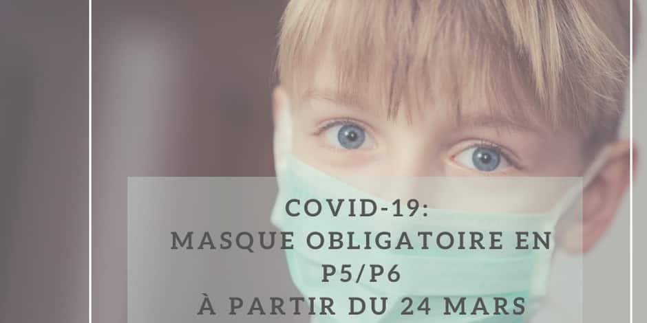 Fernelmont : distribution de masques aux élèves de cinquième et sixième primaire