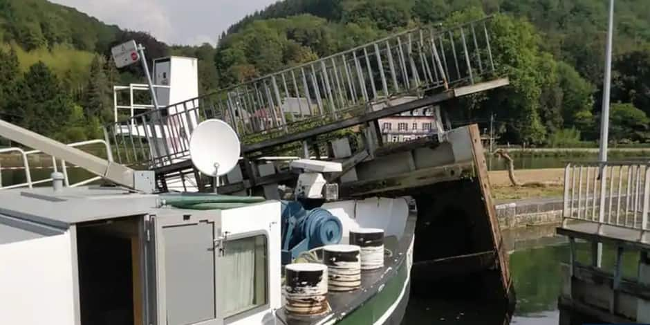 Hun : reprise du trafic navigable prévue pour le 07 septembre
