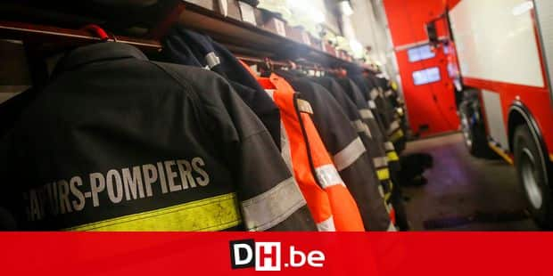 20141217 - BRAINE-L'ALLEUD, BELGIUM: Illustration picture shows Braine-L'Alleud fire brigade barrack, Wednesday 17 December 2014. This is the first visit of the Minister, part of several visits in places where his competancies are involved, as police, fire brigade, 112 center, civil protection... BELGA PHOTO VIRGINIE LEFOUR