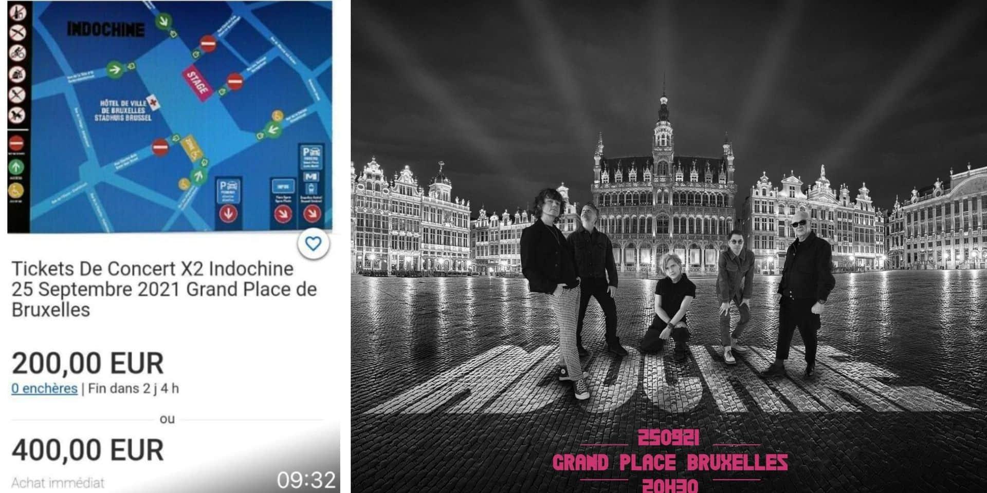 Attention aux arnaques : des tickets pour le concert gratuit d'Indochine samedi à Bruxelles revendus jusqu'à 400 € sur Internet