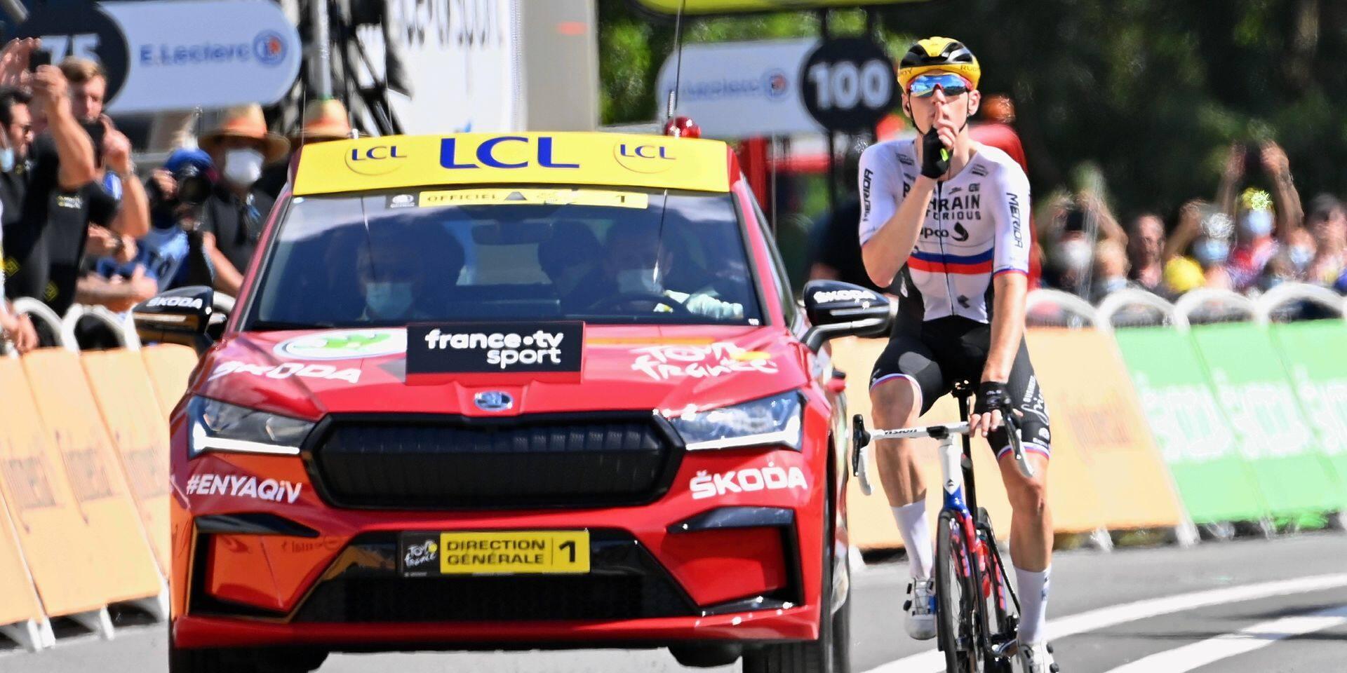 Dix-neuvième étape du Tour de France: Matej Mohoric envers et contre tout