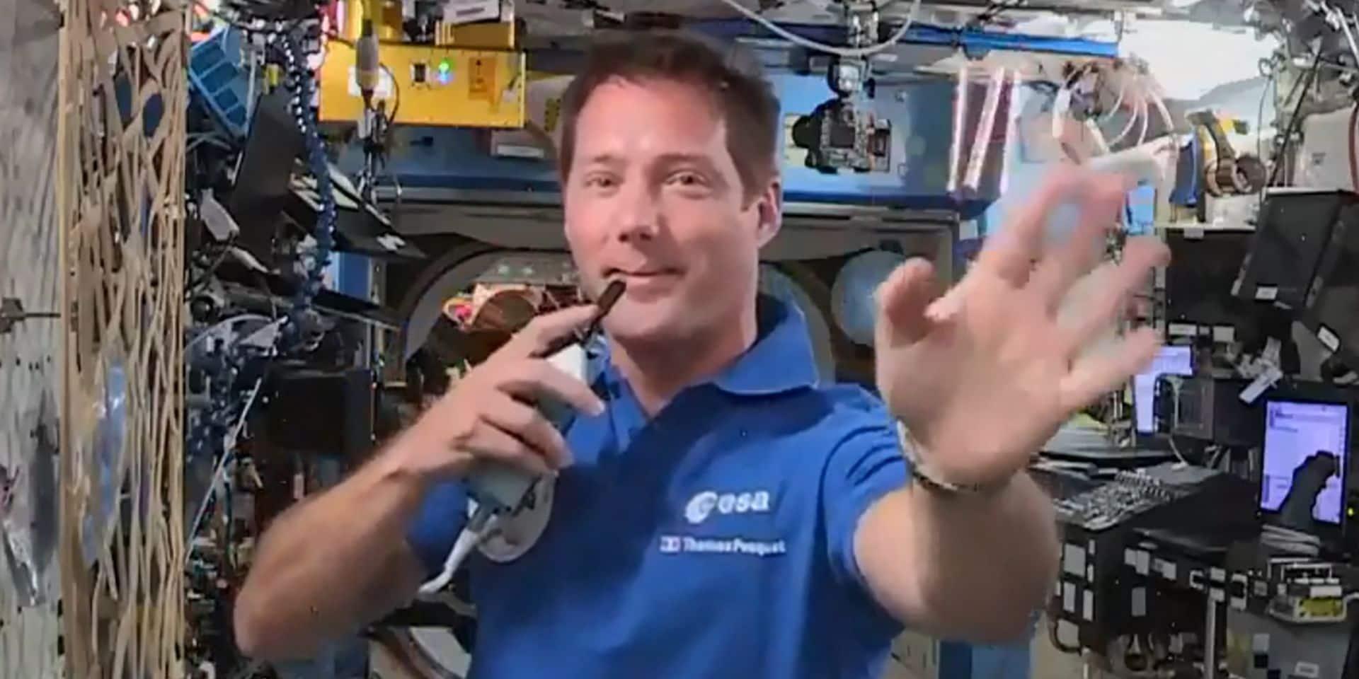 Pendant ce temps-là, dans l'espace, Thomas Pesquet installe sa nouvelle toilette (VIDEO)