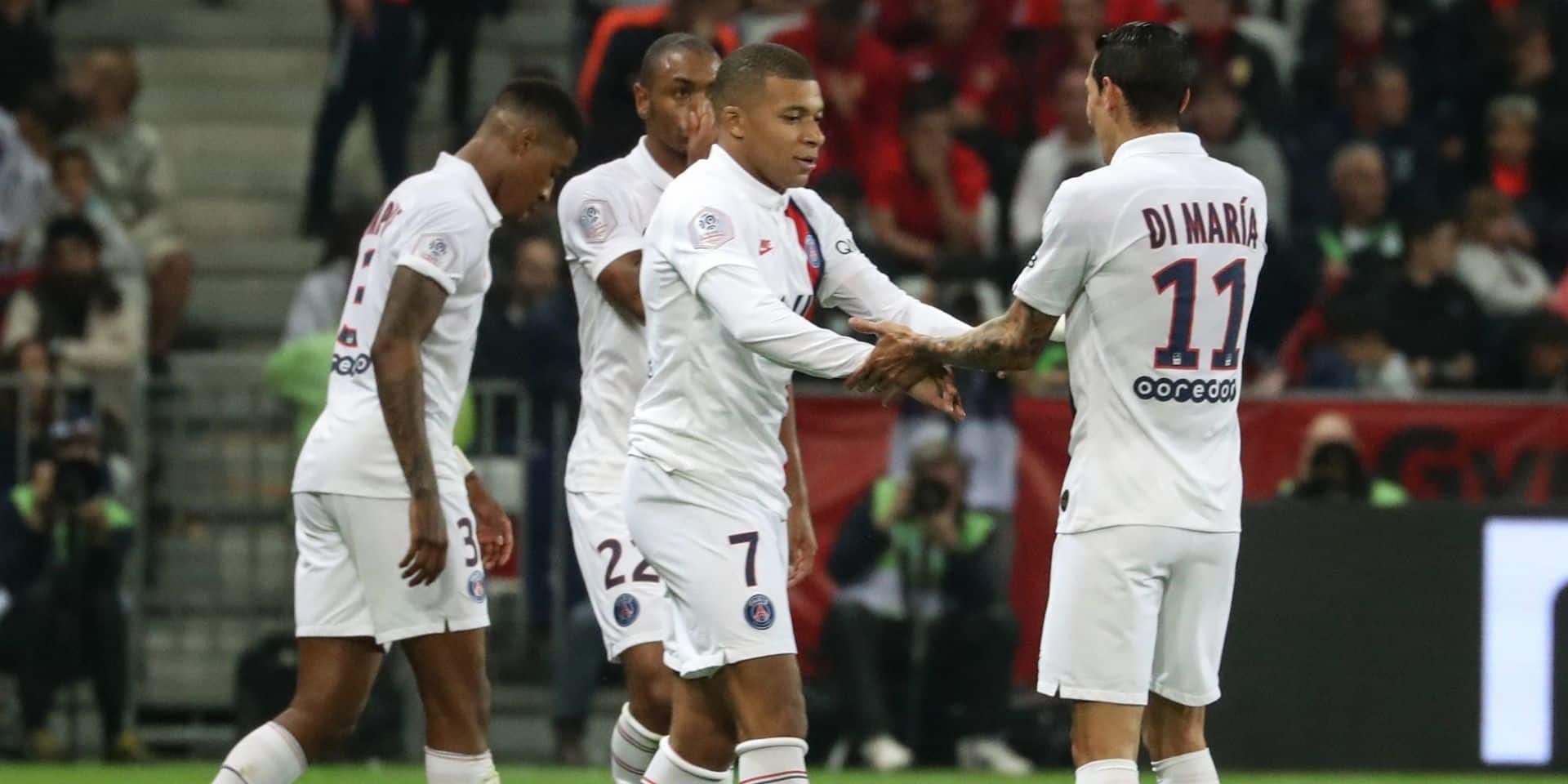 Le PSG se paye Nice (1-4) avant d'affronter Bruges en Ligue des Champions, Meunier à l'assist