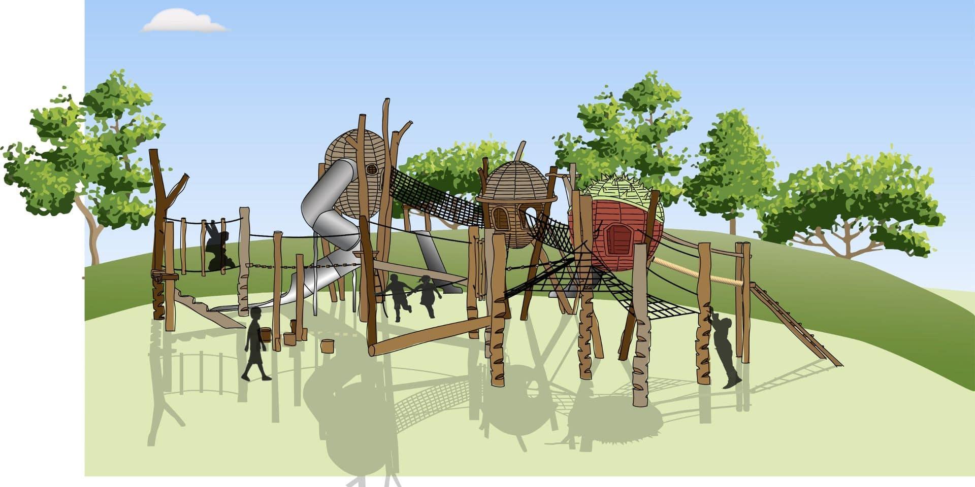 Une plaine de jeux en projet au domaine du Bois des Rêves à Ottignies