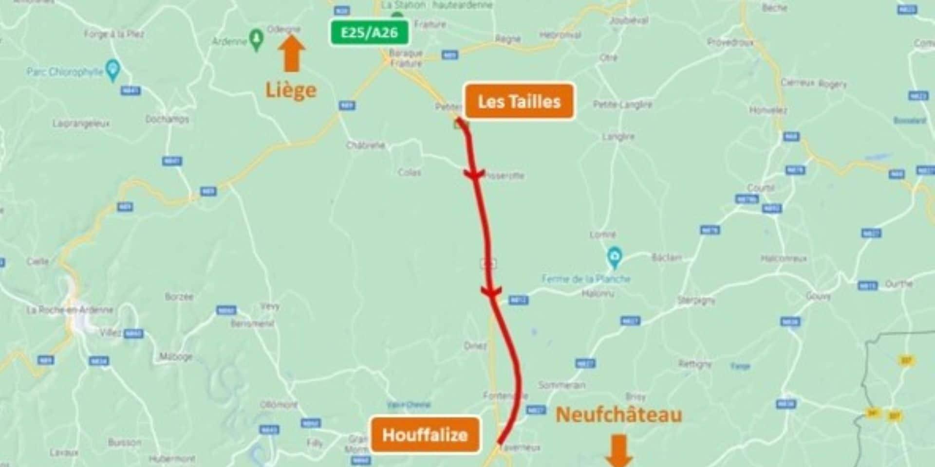 E25/A26 : le chantier entre Les Tailles et Houffalize vers Neufchâteau touche à sa fin