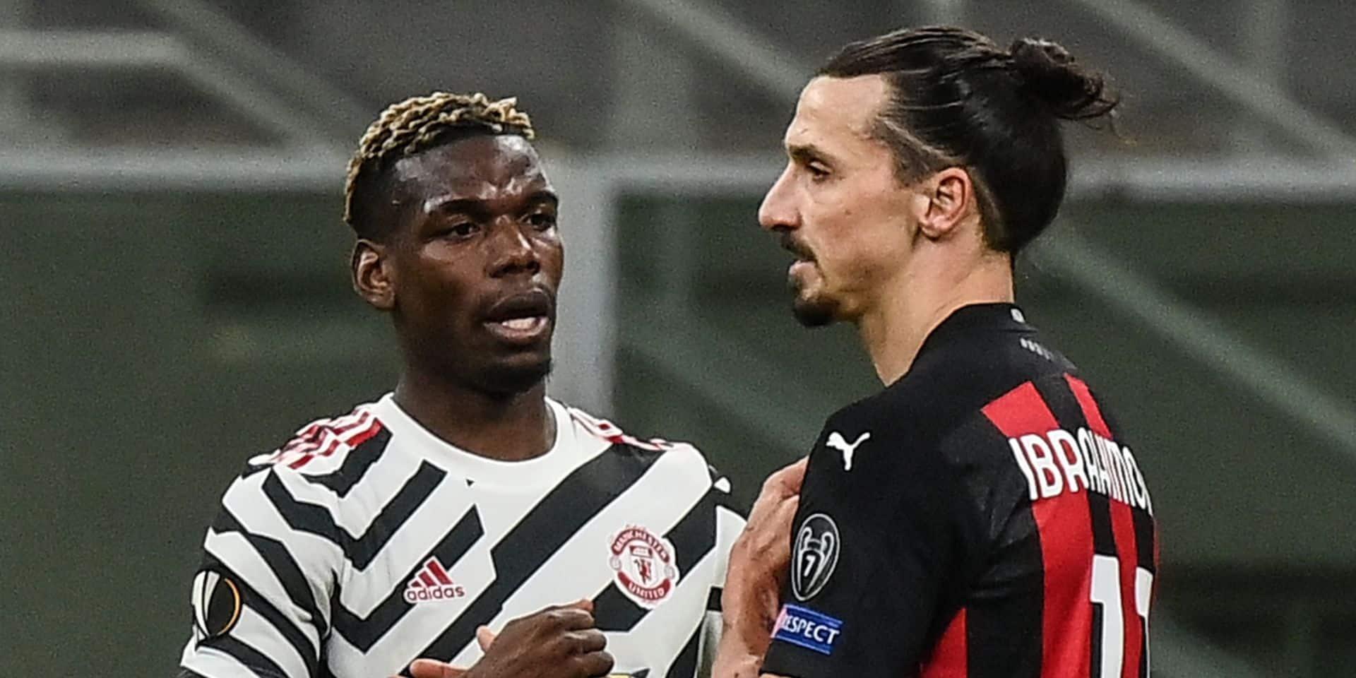 "Pogba envoie Manchester en quarts, ""Ibra"" n'a pas suffi à Milan"