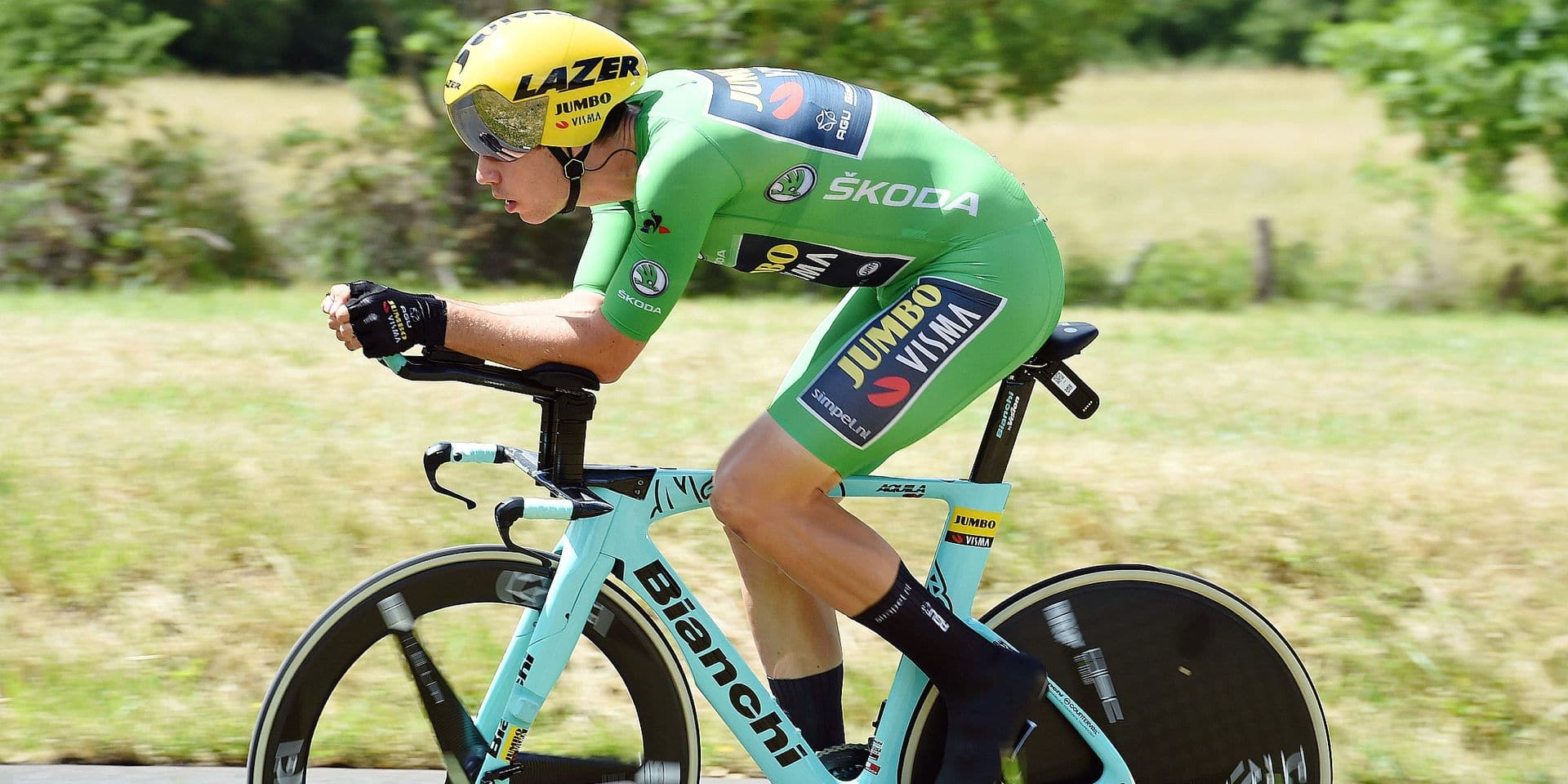 Wout Van Aert of Jumbo - Visma during the Stage 4 of Criterium du Dauphine from Roanne to Roanne on June 12th, 2019. Photo : Sirotti / Icon Sport