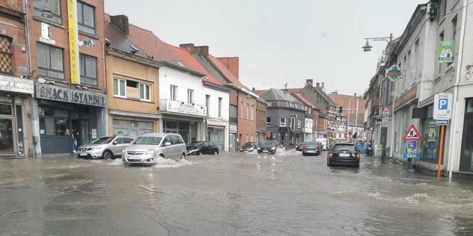 Des pluies diluviennes se sont abattues sur Jemappes