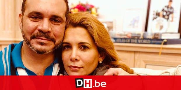 This handout picture released on the Twitter page of Jordan's Prince Ali Al Hussein on July 31, 2019 shows him, the half brother of King Abdullah and the president of the Jordanian Football Association, hugging his sister Princess Haya (R) at an undisclosed location in London. - Haya, 45, the half-sister of Jordan's King Abdullah II and a member of the country's ruling Hashemite family, has fled to London where she has brought a case against her husband the Dubai ruler, whom she married in 2004. (Photo by - / Jordan's Prince Ali Al Hussein Twitter page / AFP)