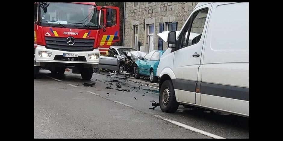 Accident à Hampteau (Hotton) : un blessé léger