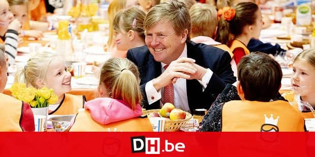 12-04-2019 Lemmer King Willem-Alexander during the 7th editon of the Koningsspelen at the Arke school in Lemmer. The Koningsspelen ( Kingsgames) is a nationwide sport day for schools. © PPE/pool Reporters / PPE