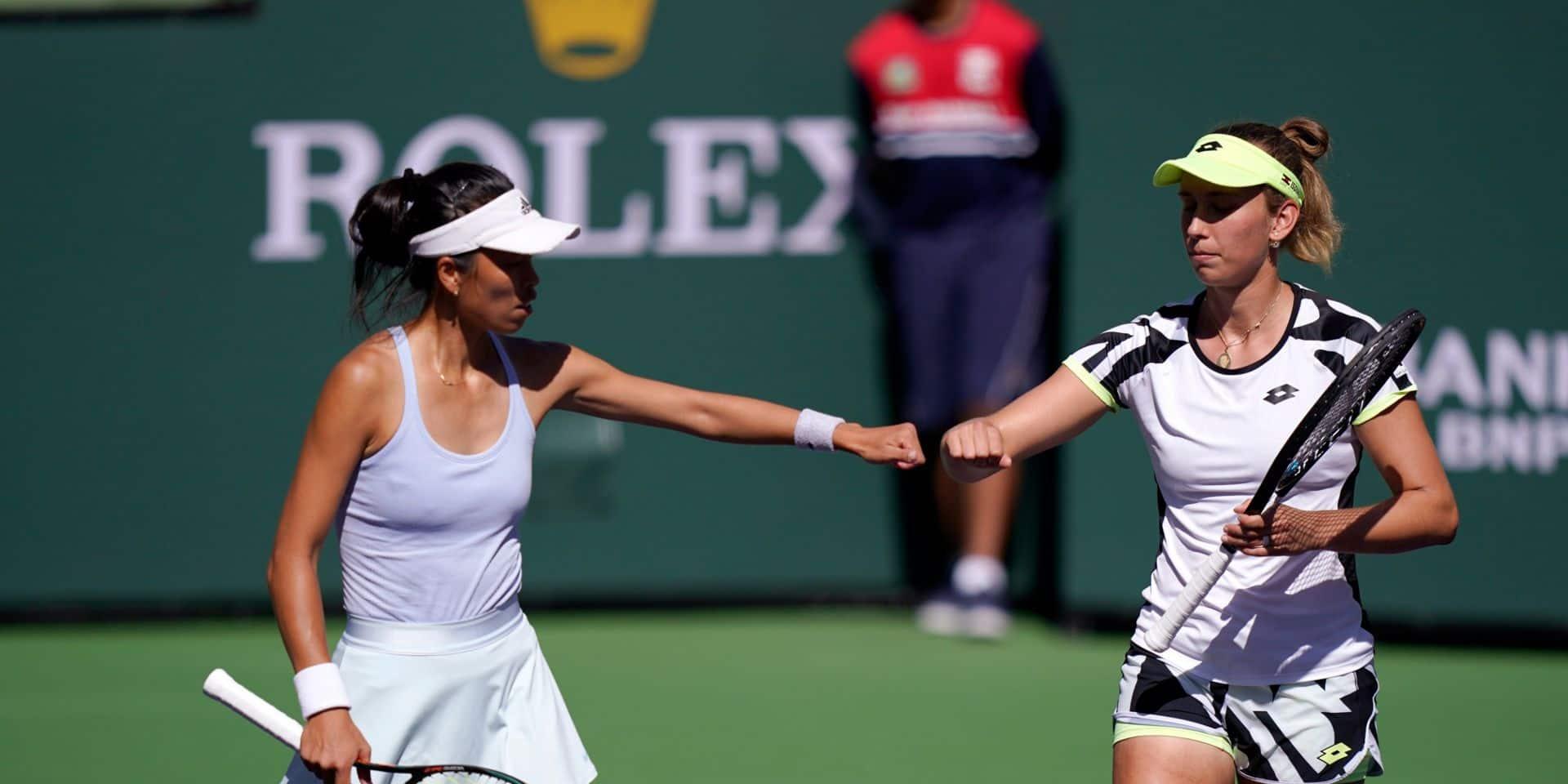 WTA Indian Wells: Elise Mertens, associée à Su-Wei Hsieh, rejoint la finale et vise un 14e titre en double