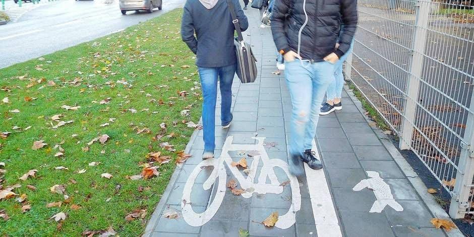 Di Antonio se frotte aussi aux cyclistes montois