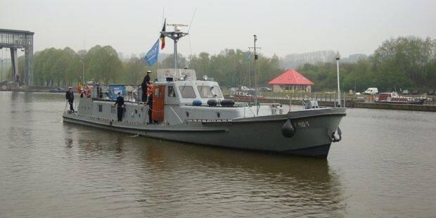 Le training ship des Cadets de Marine présent pour la fête de l'eau à l'Abbaye d'Aulne