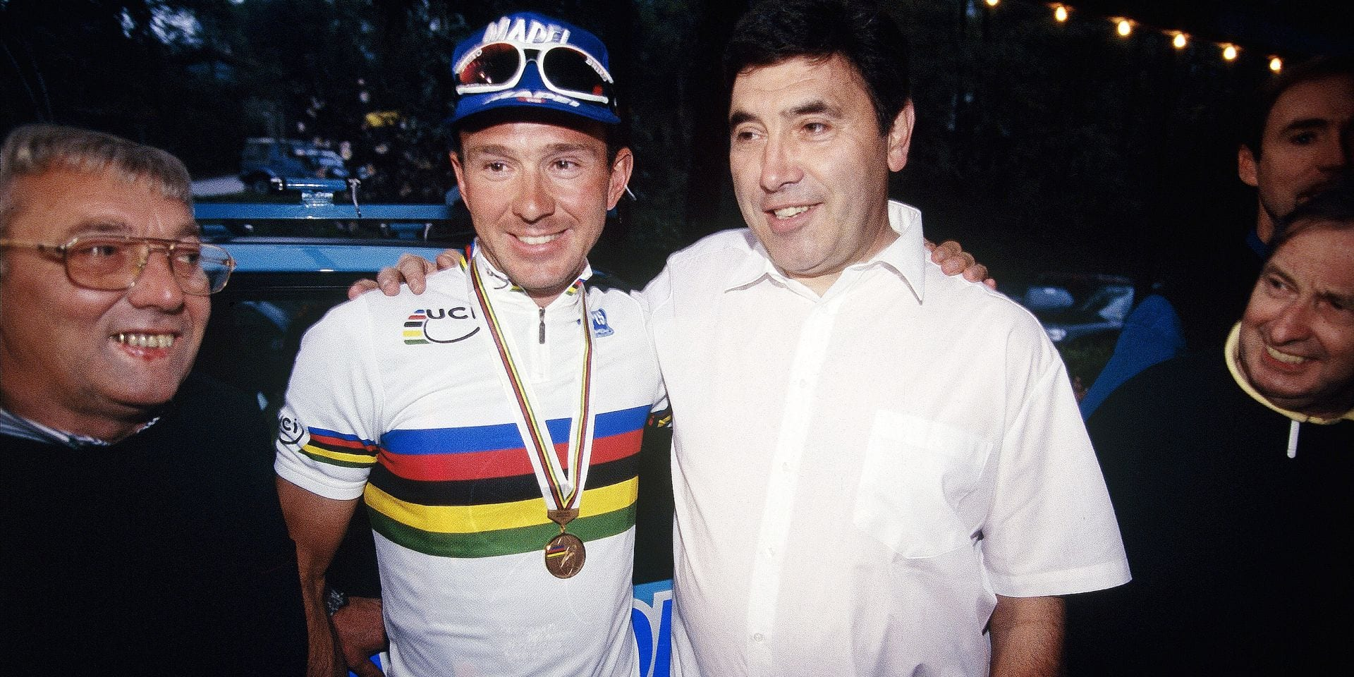 Cycling Johan MUSEEUW Eddy MERCKX (Lugano - 10/1996) REPORTERS©Michel Gouverneur