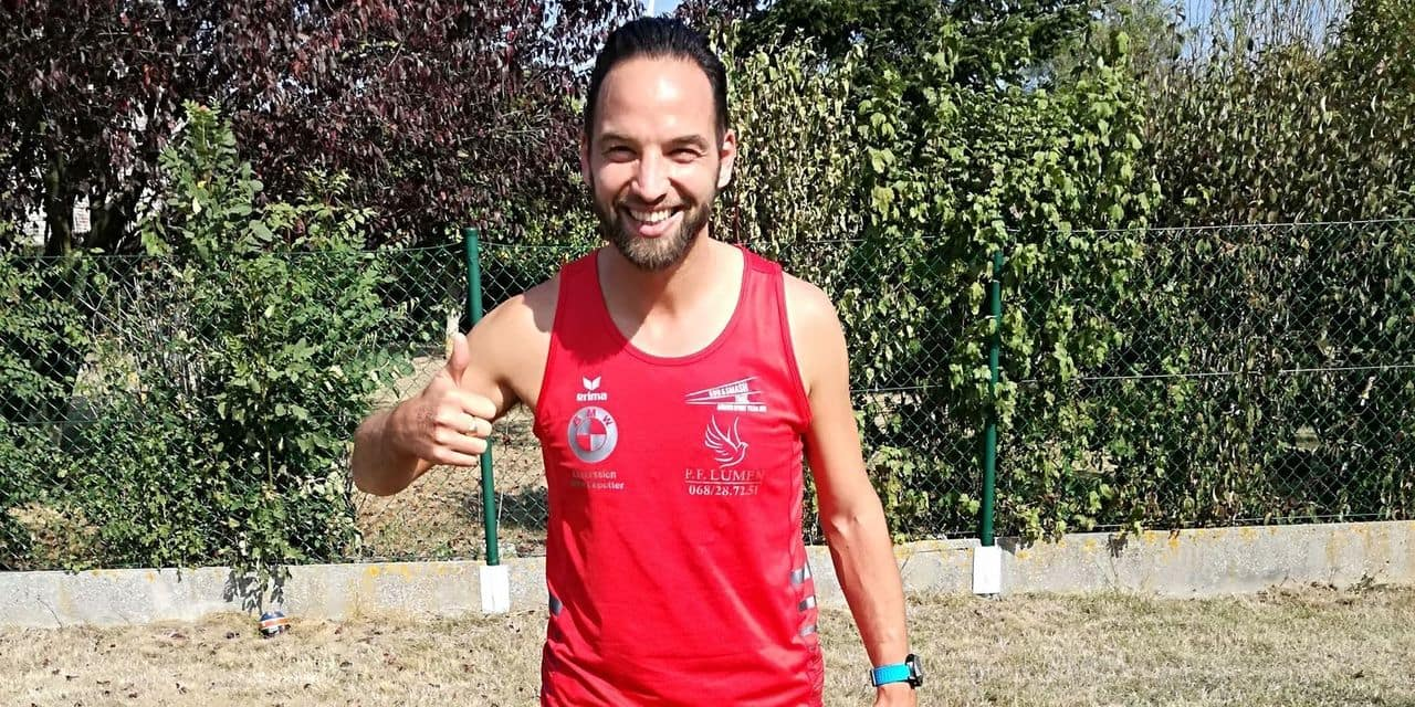 Jimmy Minet a couru chaque jour pendant un an et a parcouru 5814 kilomètres au total!