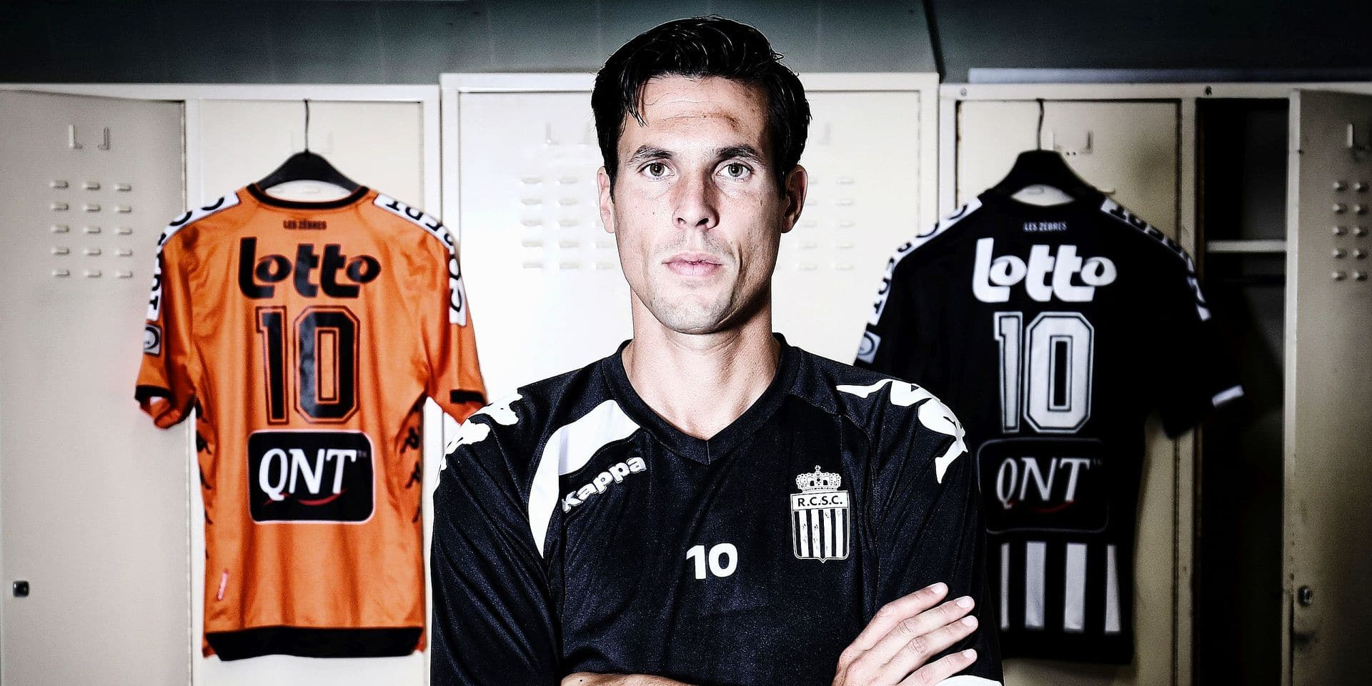 French striker Jeremy Perbet of Sporting Charleroi poses for the photographer at a photoshoot in Charleroi, Tuesday 31 July 2018. BELGA PHOTO VIRGINIE LEFOUR