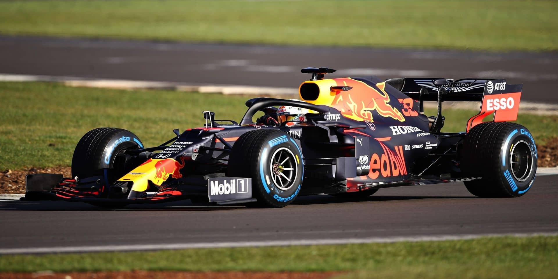 La nouvelle Red Bull, la RB16, a déjà pris la piste ce mercredi à Silverstone