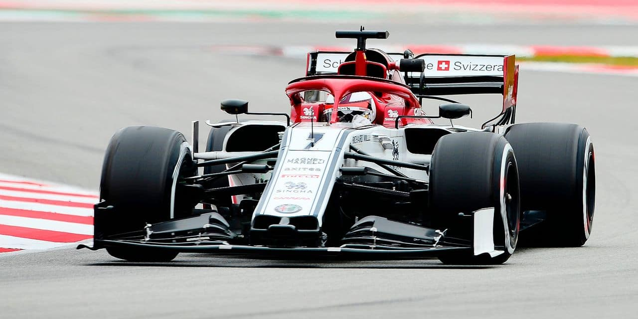 Alpha Romeo's Finnish driver Kimi Raikkonen takes part in the tests for the new Formula One Grand Prix season at the Circuit de Catalunya in Montmelo in the outskirts of Barcelona on February 20, 2019. (Photo by Josep LAGO / AFP)