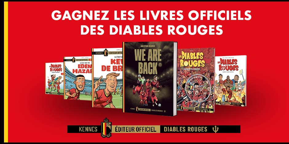Concours : DH/Les Sports+ vous offre les livres officiels des Diables Rouges