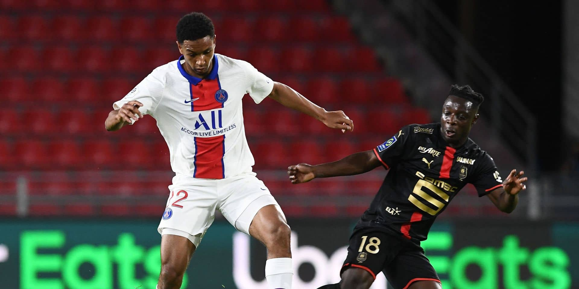 Rennes, avec Jérémy Doku, barre la route du titre au PSG