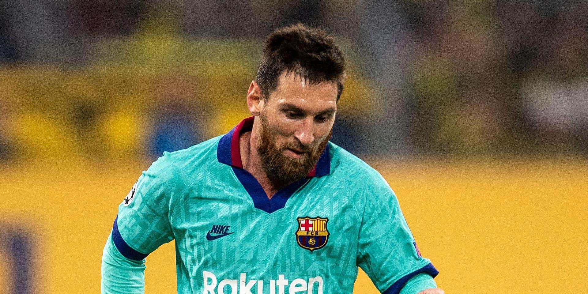Lionel Messi absent de l'entraînement de reprise du FC Barcelone
