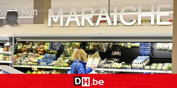 supermarche carrefour market achat magasin course vente menagere rayon alimentation legume fruit bio