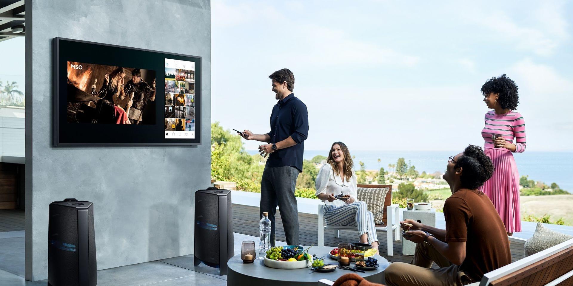 Samsung lance un nouveau téléviseur de... jardin : ticket d'entrée à 4000 € !