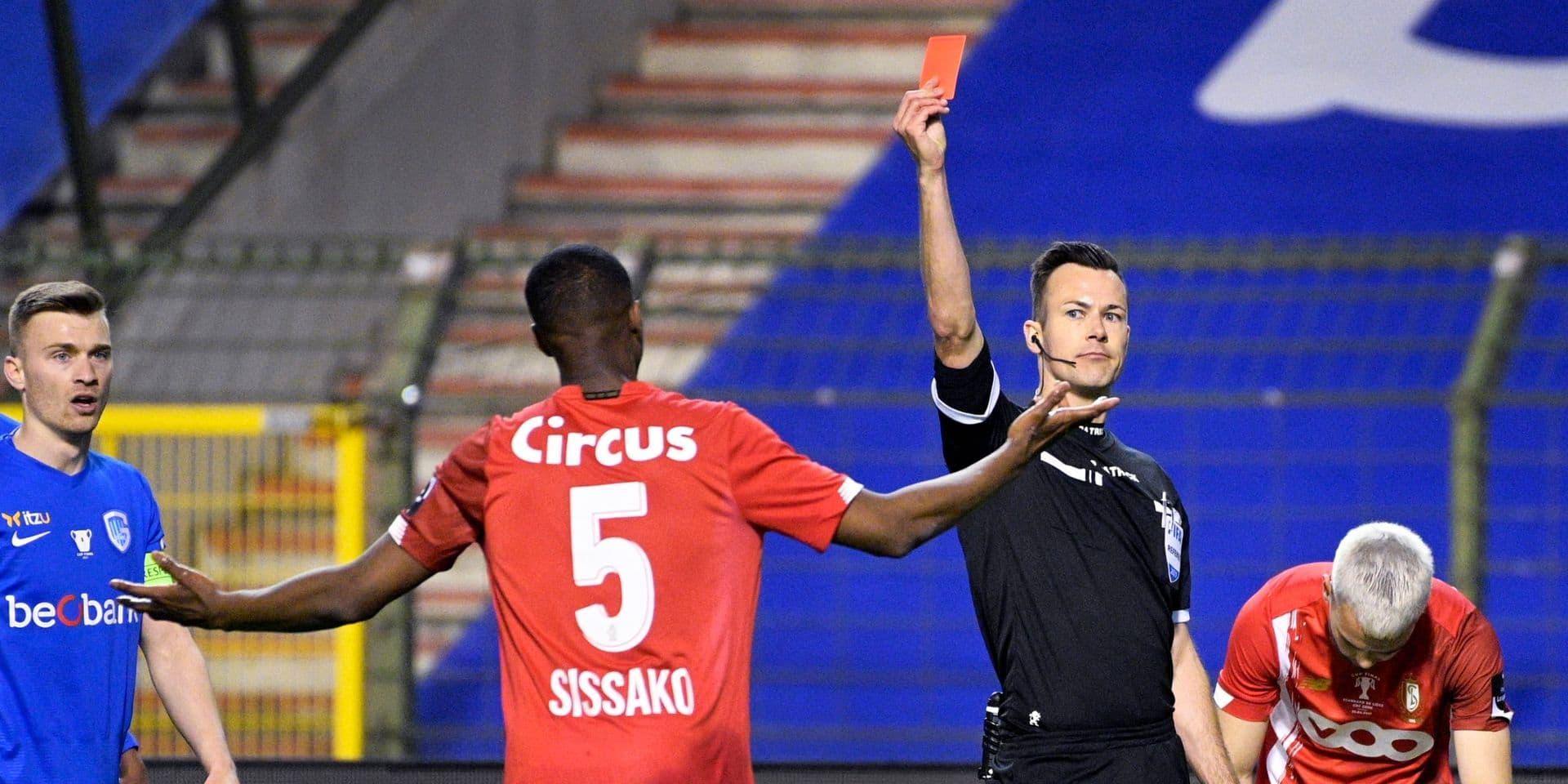 Sissako écope de deux matchs de suspension après sa carte rouge contre Genk