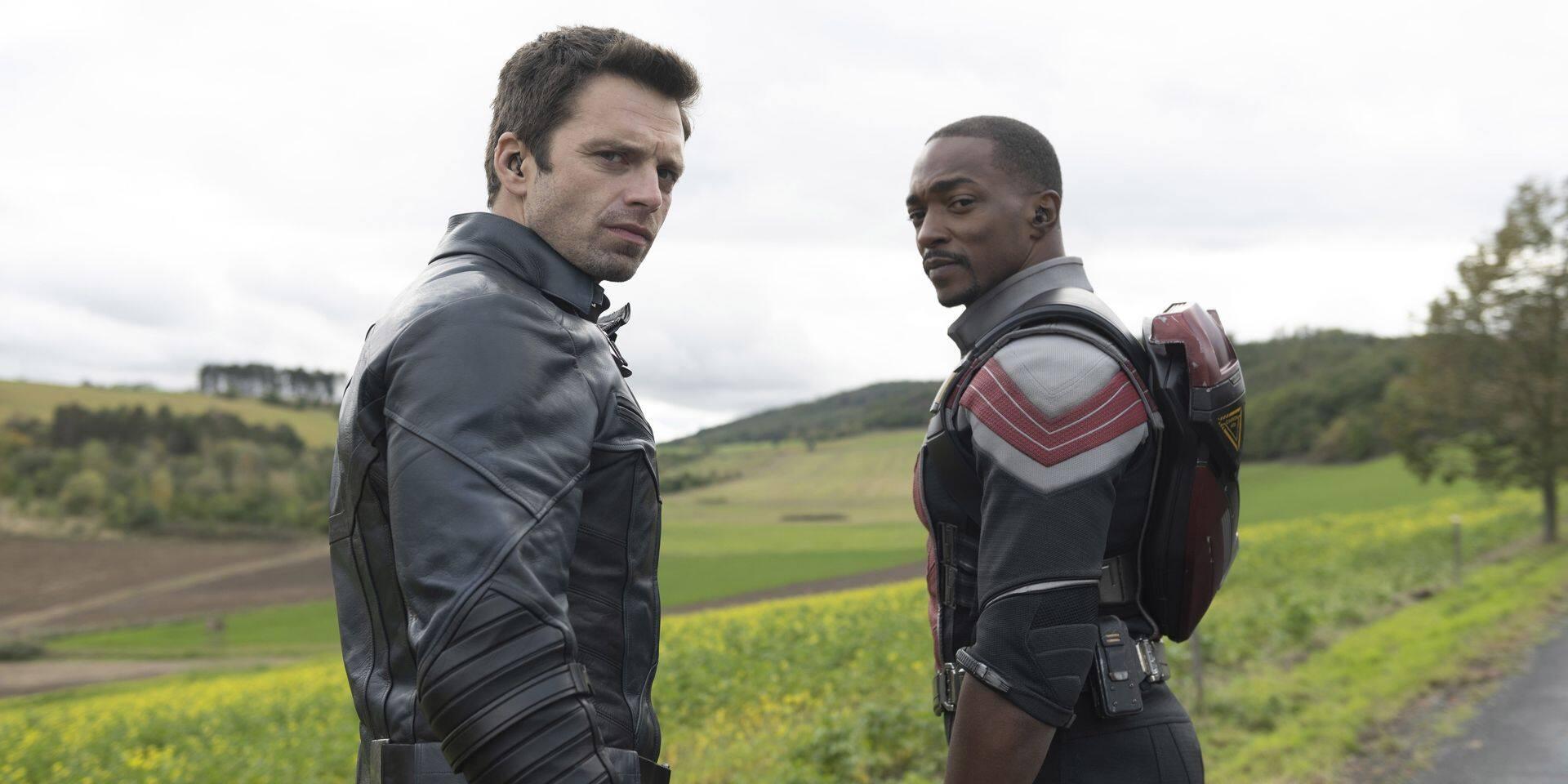 """Anthony Mackie et Sebastian Stan jouent les super-héros dans la dernière production Marvel: """"Comme un gars ordinaire qui vient de gagner à la loterie"""""""