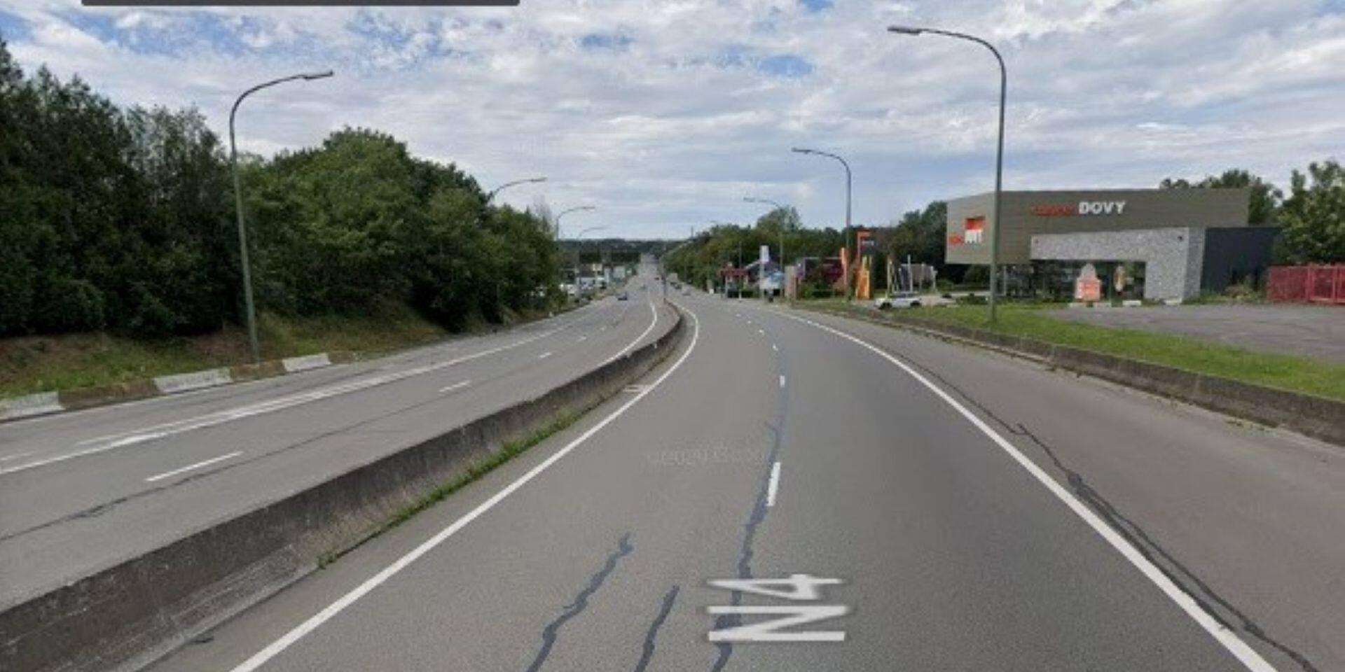 Accident sur la N 4 près de Marche-en-Famenne : deux blessés légers