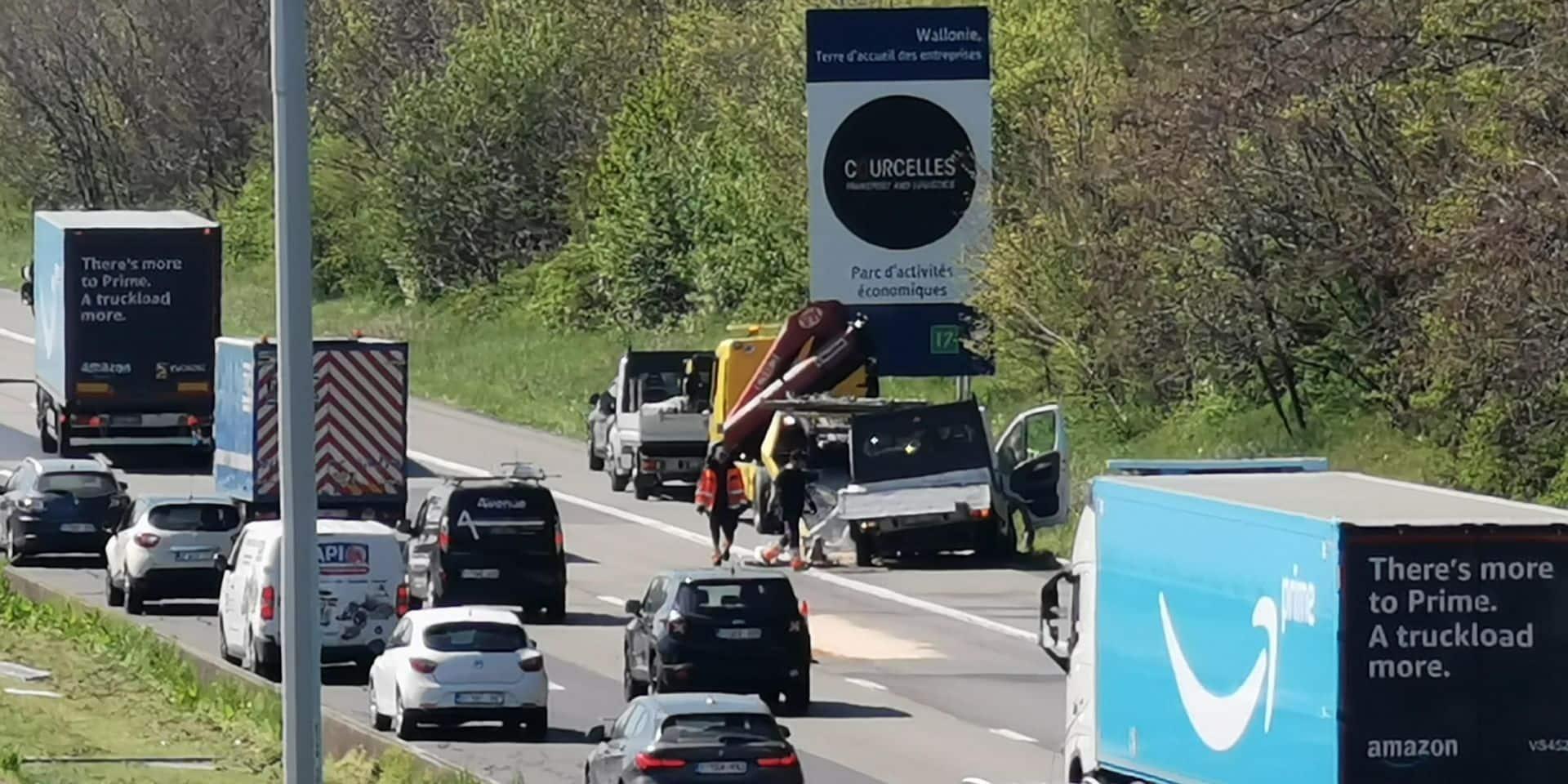 Accident spectaculaire sur l'E42