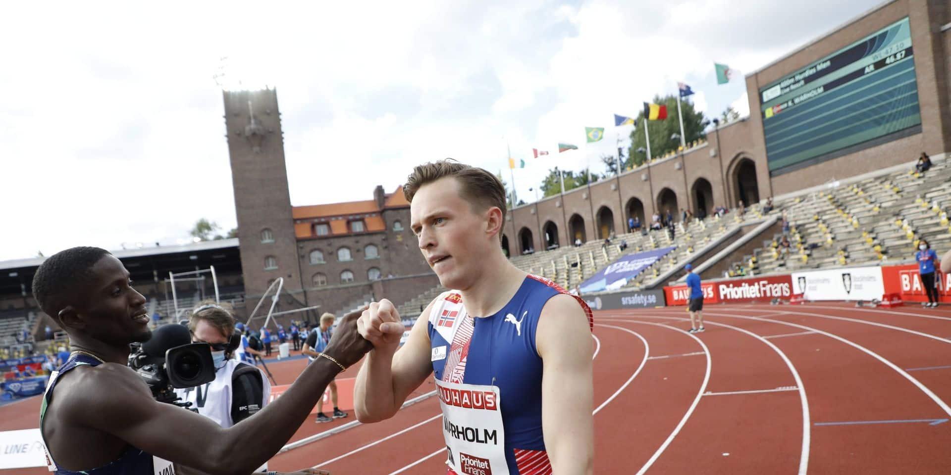 Nouveau record d'Europe pour Karsten Warholm, qui talonne le record du monde du 400m haies