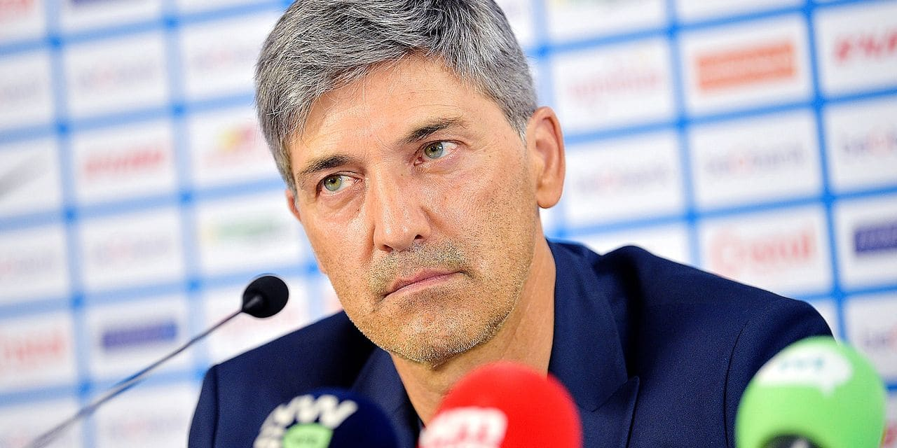 Genk's head coach Felice Mazzu pictured during a press conference on the occasion of the presentation of the new head coach of KRC Genk. Monday 03 June 2019. BELGA PHOTO YORICK JANSENS