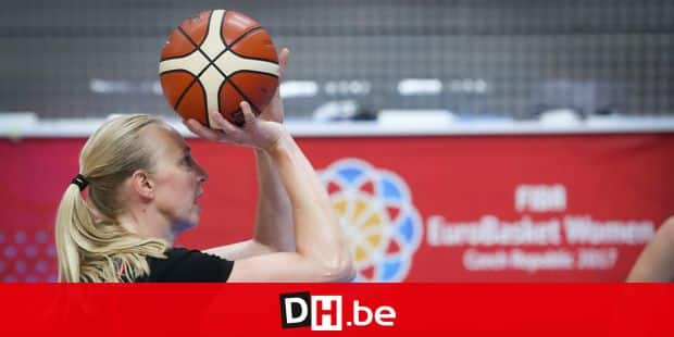 Belgian Cats Ann Wauters pictured in action during a training ahead of the FIBA Eurobasket Women 2017, Thursday 15 June 2017, in Prague, Czech Republic. The Belgian Cats will play Tomorrow their first game against Montenegro. BELGA PHOTO VIRGINIE LEFOUR