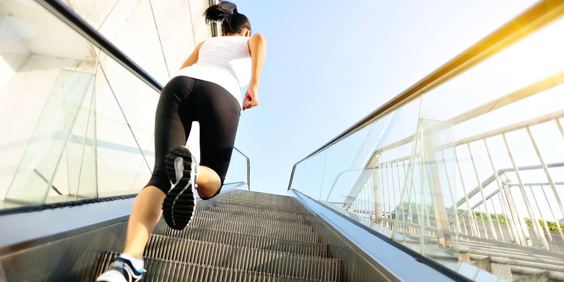 La théorie de l'escalator ou courir pour aller plus haut