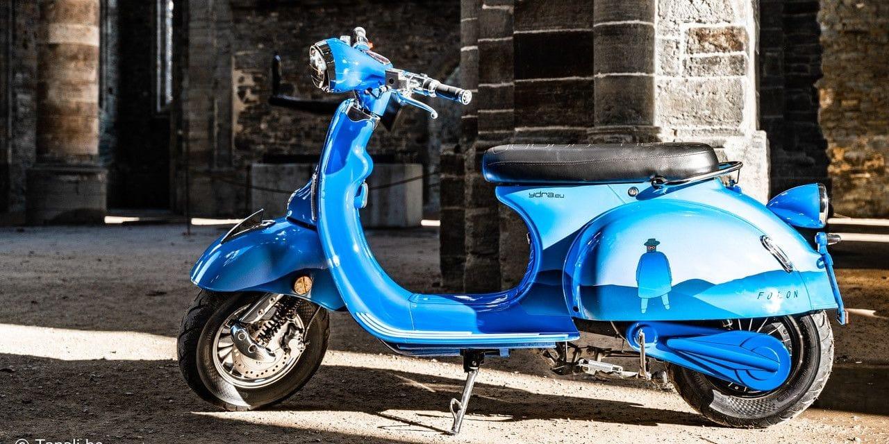 Un scooter belge en hommage à Jean-Michel Folon