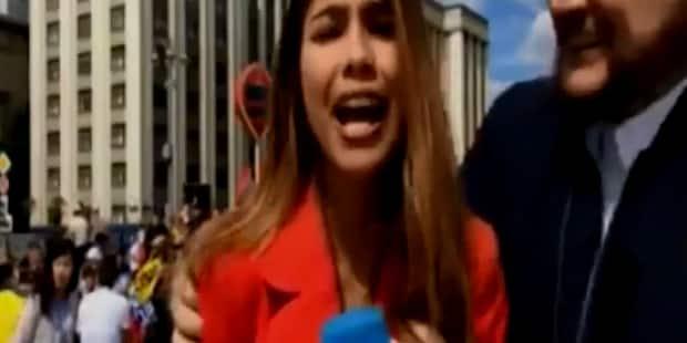 Mondial 2018: une journaliste colombienne victime d'un geste totalement déplacé d'un supporter en direct (VIDEO) - La DH