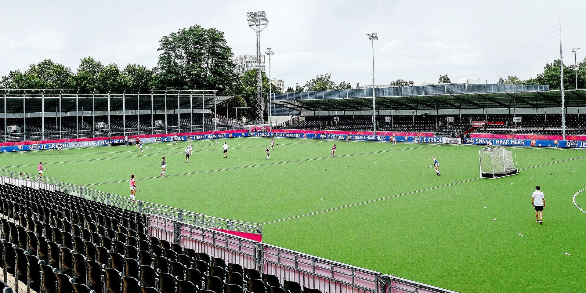 Illustration picture shows the German women's team during a training session, at the 'Wilrijkse Plein' hockey stadium, the location of the upcoming EuroHockey Championships, Wednesday 14 August 2019 in Wilrijk, Antwerp. BELGA PHOTO DIRK WAEM