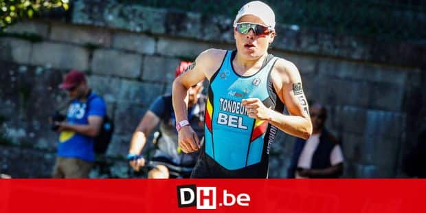 Belgian triathlete Alexandra Tondeur in action during the running event at the World championships Triathlon Long Distance, in Pontevedra, Spain, Saturday 04 May 2019. Tondeur won the World Championship long distance (1.500m swimming, 110km cycling and 30km running) in Pontevedra, Spain, in 5h48m01. BELGA PHOTO THIERRY DEKETELAERE