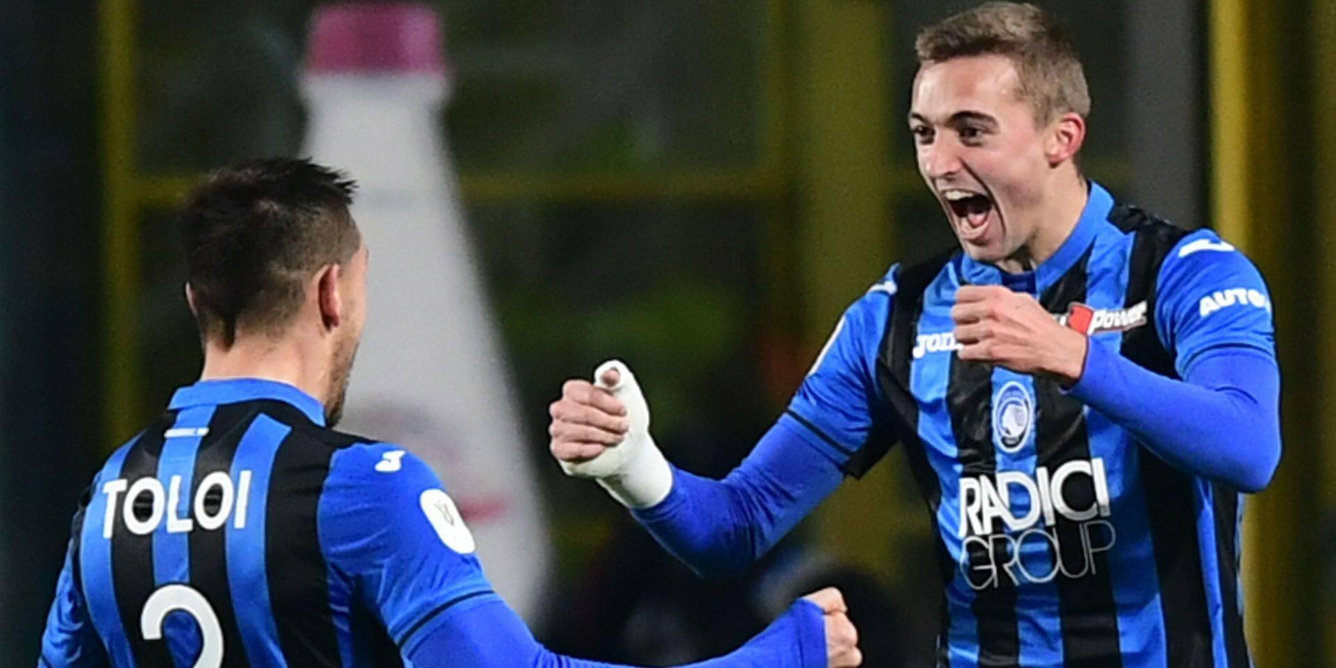 Belges à l'étranger: A nouveau buteur, Castagne élimine la Juve avec l'Atalanta en quarts de finale de la Coupe (VIDEO)