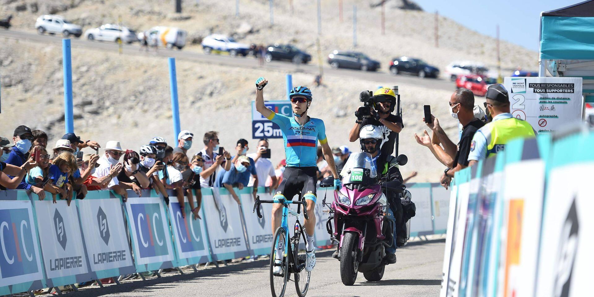 Vlasov confirme au sommet du mont Ventoux