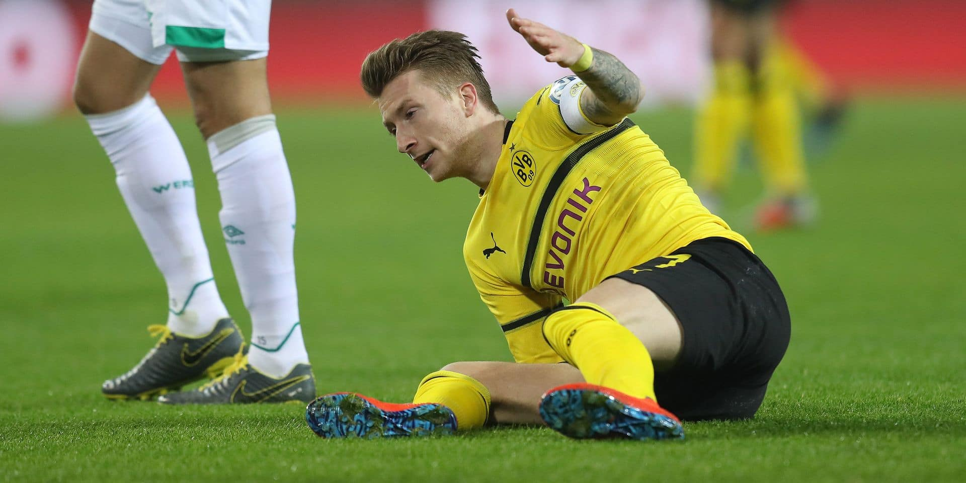 Le Borussia Dortmund inquiet pour son capitaine Reus, blessé à une cuisse