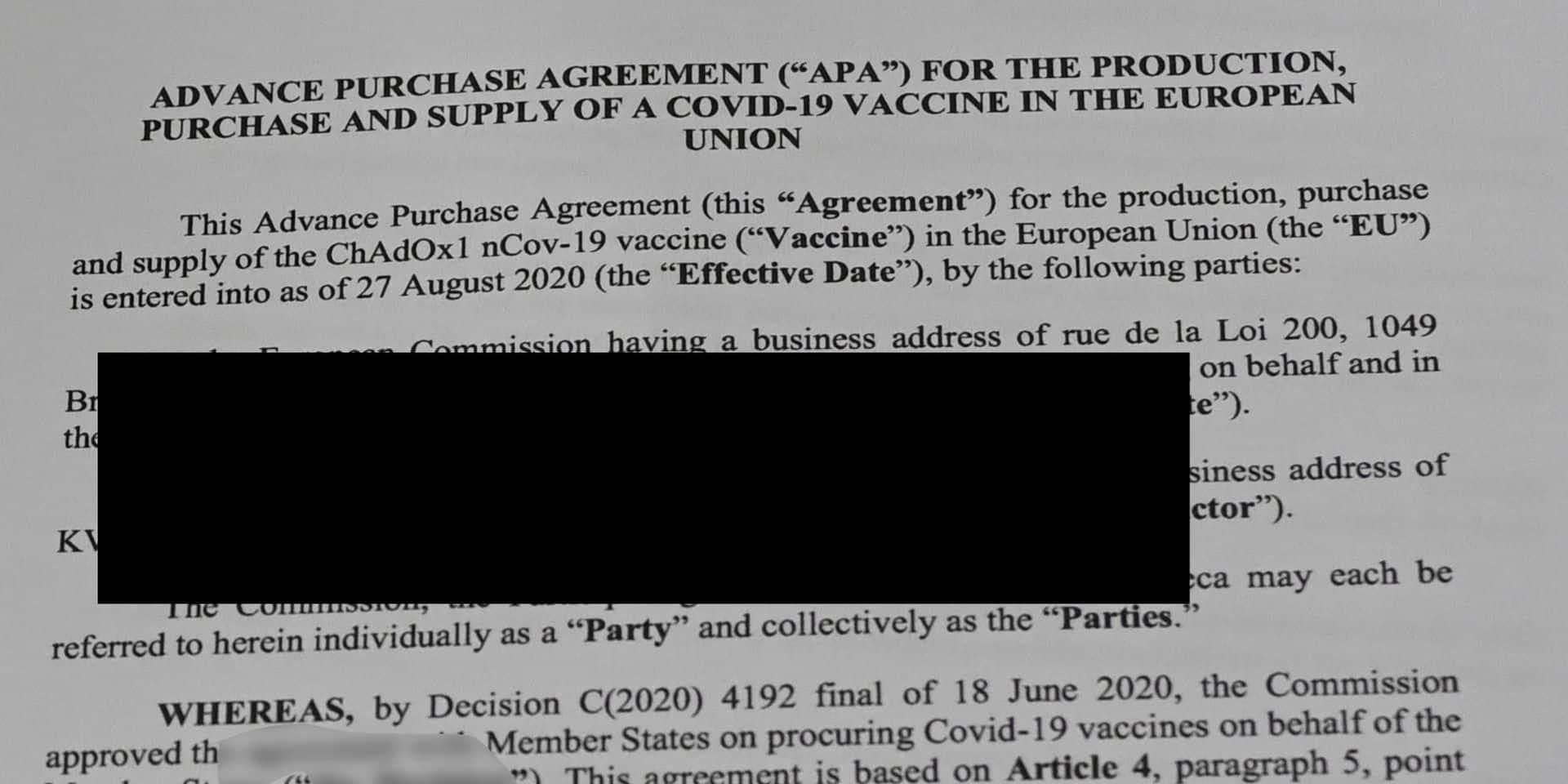 Un simple logiciel permet de dévoiler les passages sensibles du contrat entre la Commission européenne et AstraZeneca !