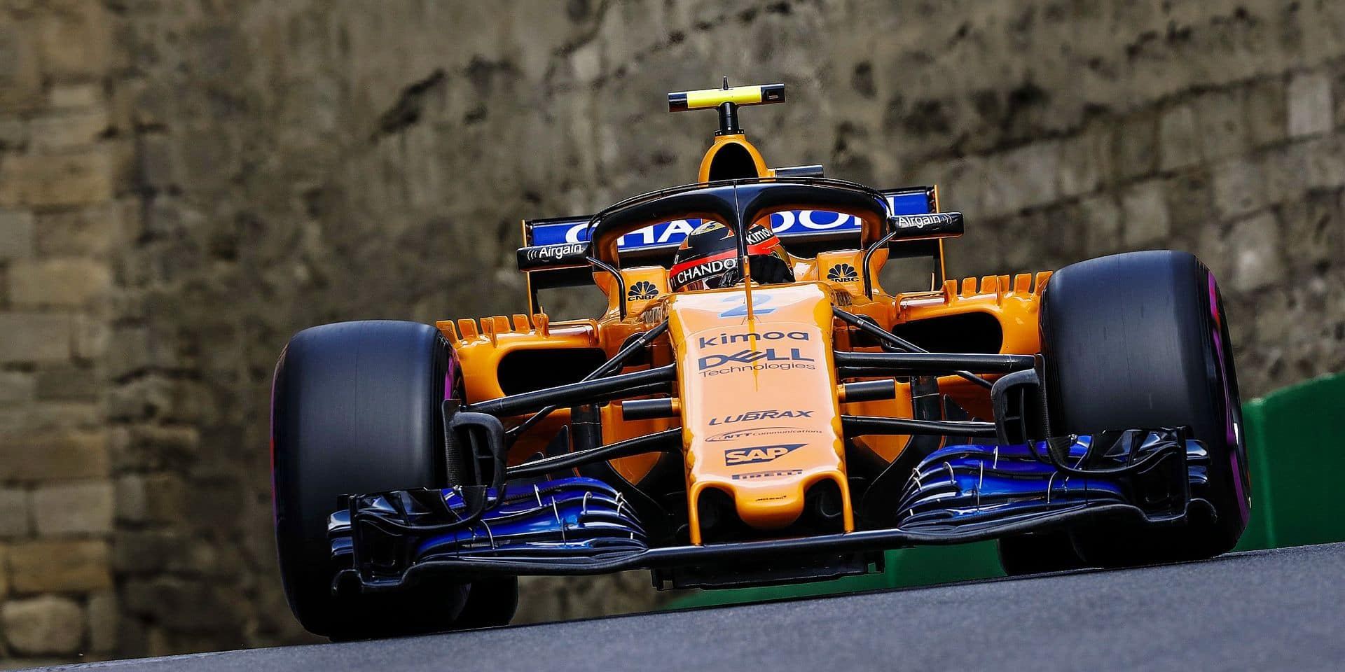 VANDOORNE Stoffel (bel), McLaren Renault MCL33, action during the 2018 Formula One World Championship, Grand Prix of Europe in Azerbaijan from April 26 to 29 in Baku - 28.04.2018. | usage worldwide Reporters / DPA