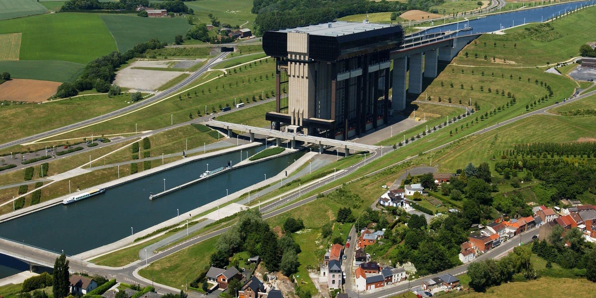 Réouverture de l'ascenseur funiculaire de Strépy-Thieu