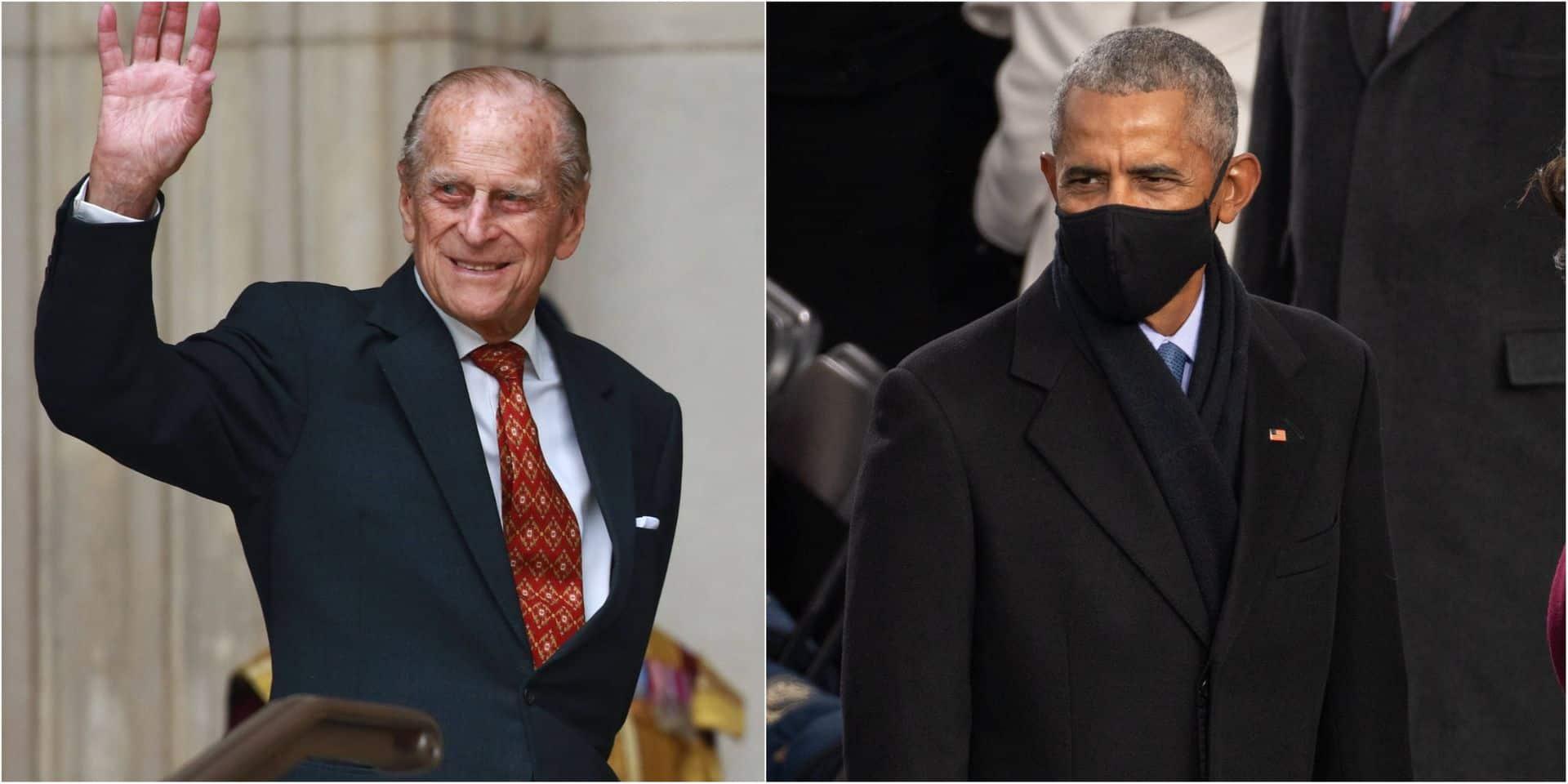 """Barack Obama rend hommage au prince Philip : """"Il a montré au monde entier ce que signifiait être le mari d'une femme puissante"""""""