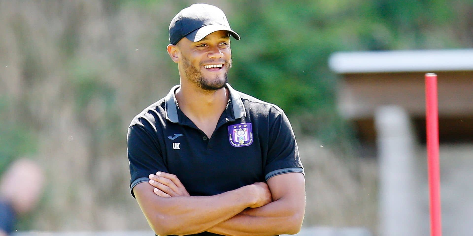 Anderlecht's new player/ manager Vincent Kompany pictured during a training session of Belgian soccer team RSC Anderlecht at their summer camp, Thursday 04 July 2019 in Venlo, The Netherlands, in preparation of the upcoming 2019-2020 Jupiler Pro League season. BELGA PHOTO BRUNO FAHY