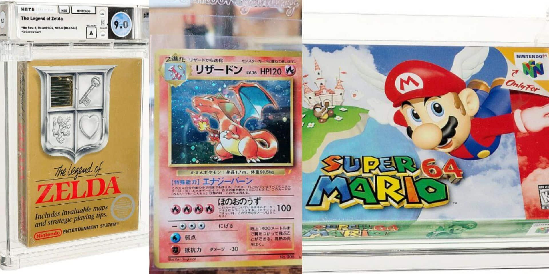 Une cartouche de Mario vendue à plus d'1,5 million de dollars, des cartes Pokémon que tout le monde s'arrache: bienvenue dans le business fou des geeks