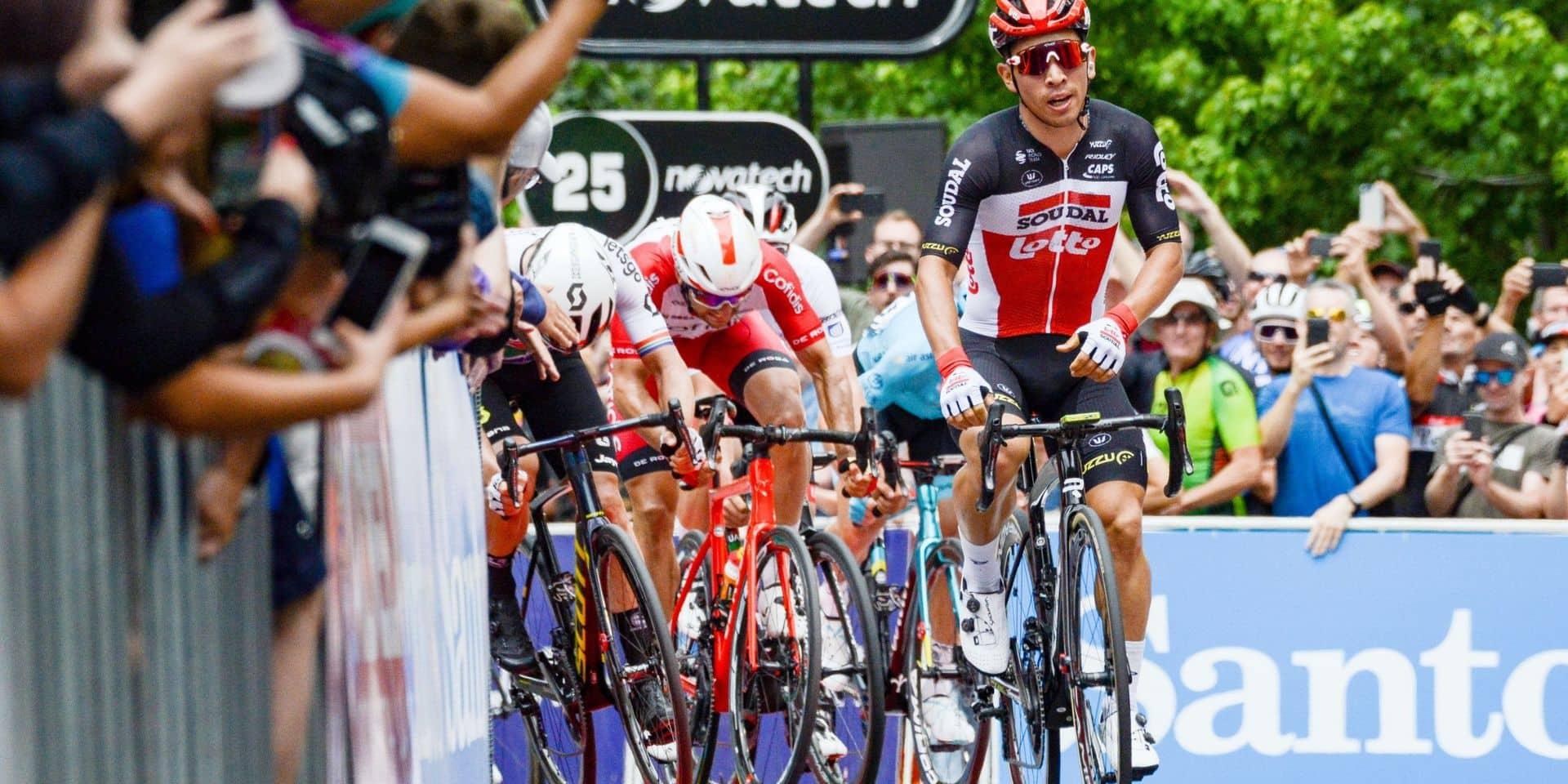 L'Australien Caleb Ewan (Lotto Soudal) remporte la seconde étape à domicile